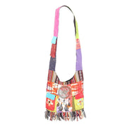 Tie Dye & Print Shoulder Bag