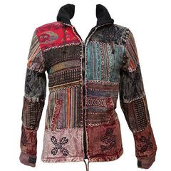 Gheri Patchwork Fleece Lined Jacket
