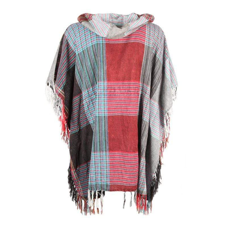 Men's Lightweight Patchwork Poncho