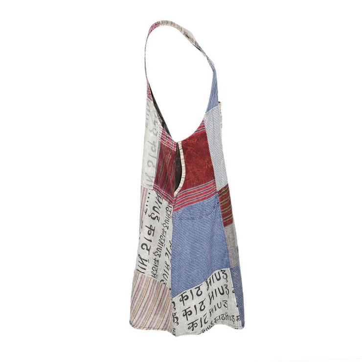 Patchwork Dungarees Dress