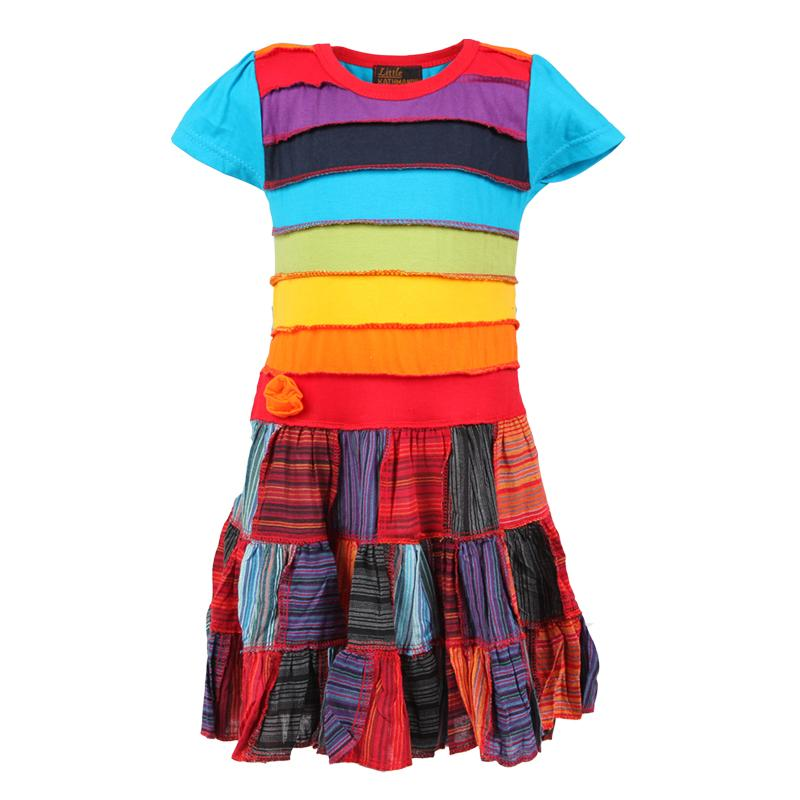 Children's Rainbow Patchwork Dress