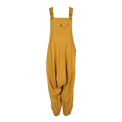 Plain Cotton Harem Dungarees