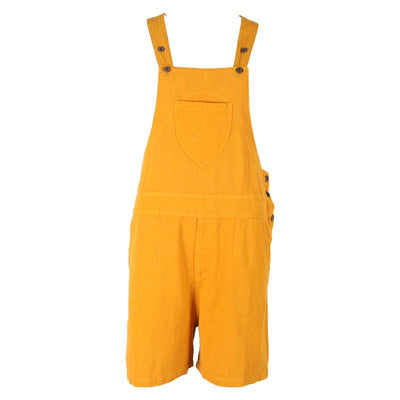 Mustard Dungaree Shorts