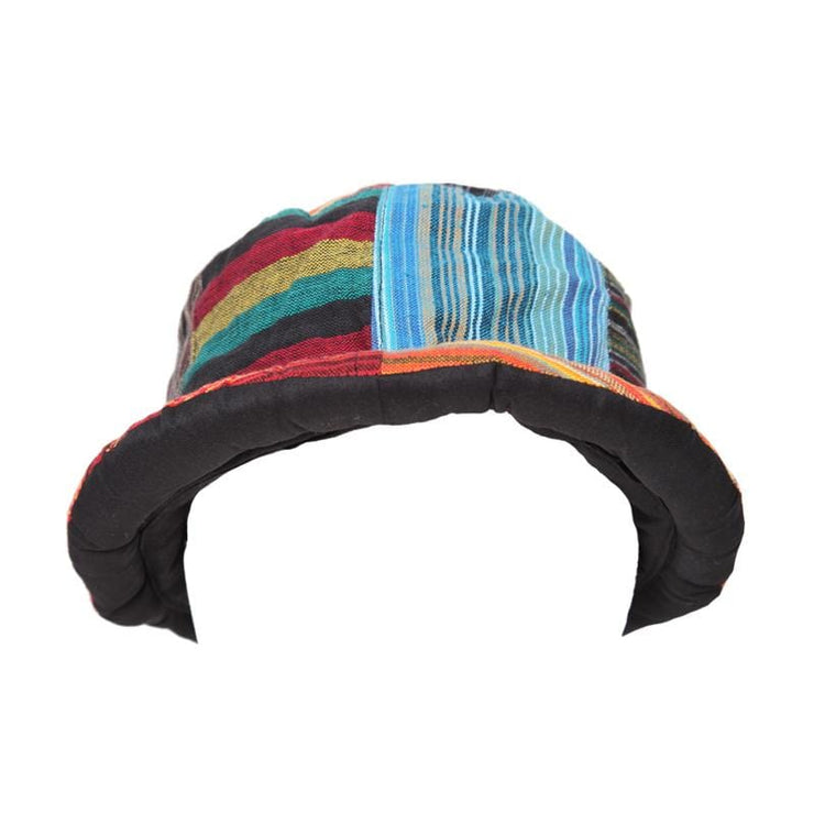 Patchwork Roll Brim Hat