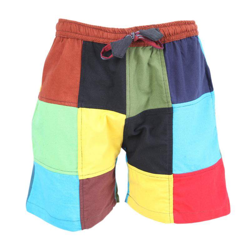 Men's Buffalo Check Patch Shorts