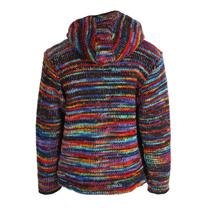 Wool Rainbow Knit Jacket