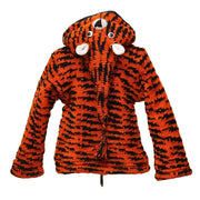 Kid's Tiger Chunky Knit Hooded Jacket