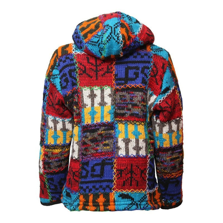 Colourful Chunky Knit Wool Jacket