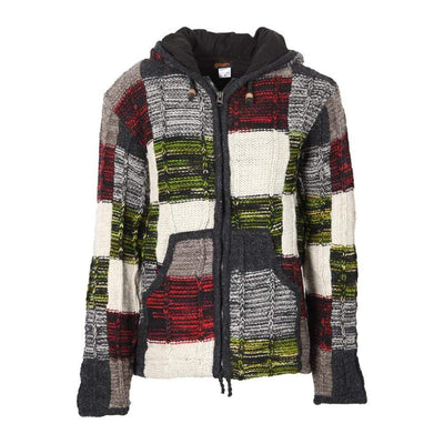 Men's Woollen Patchwork Coat