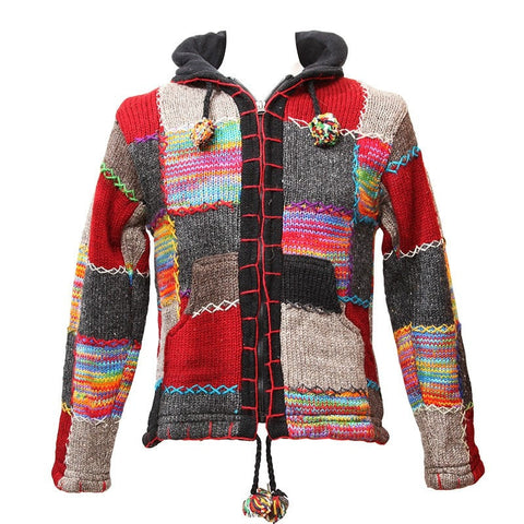 Nepalese Patch Knit Jacket