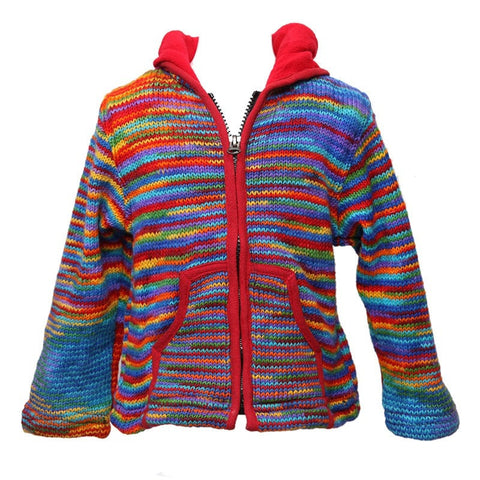 Fuzzy Rainbow Kid's Pixie Jacket