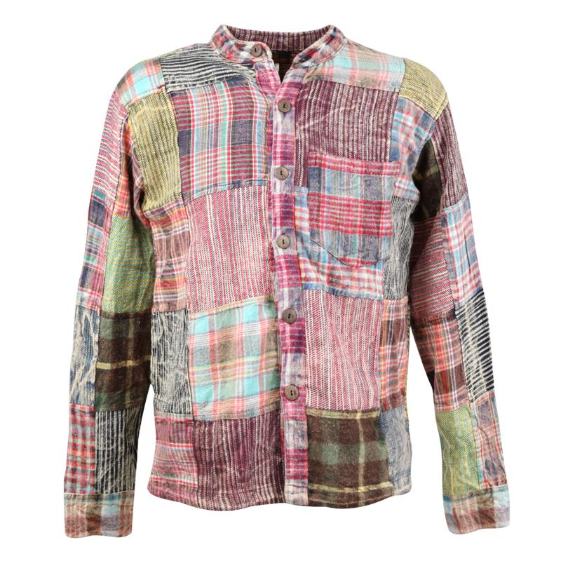 Brushed Cotton Patchwork Shirt