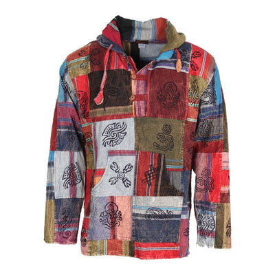Heavy Cotton Patchwork Hoodie