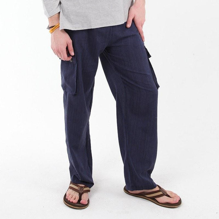 Plain Cotton Cargo Trousers