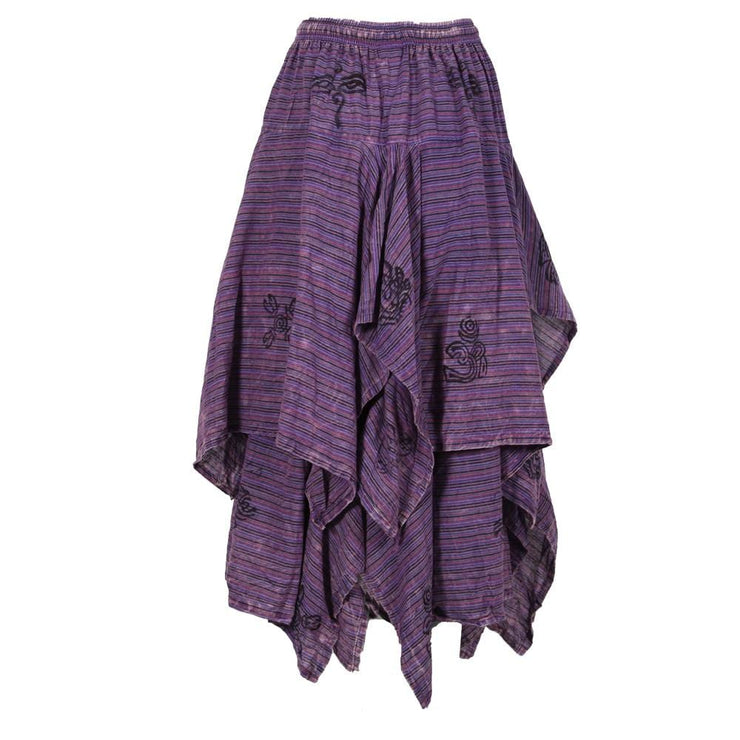 Layered Hanky Hem Printed Skirt