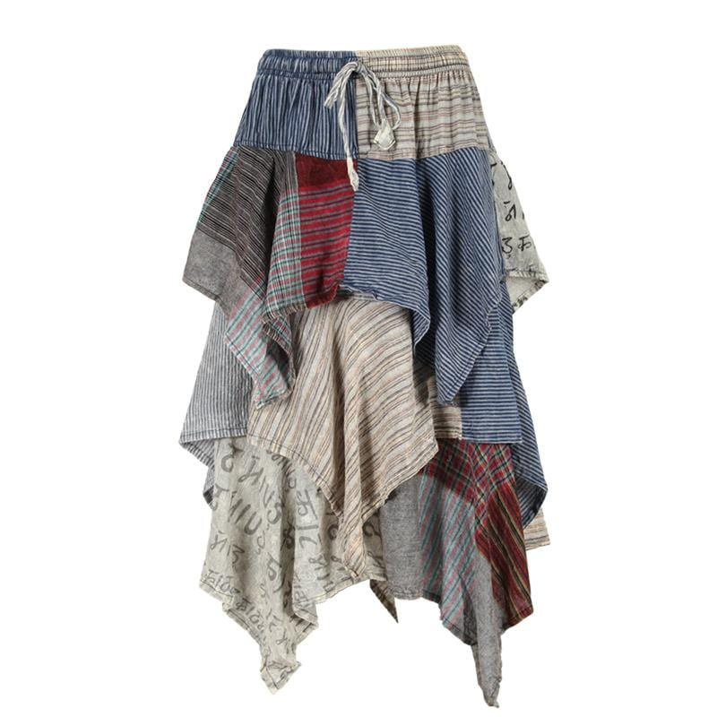 Patchwork Hanky Hem Gypsy Skirt