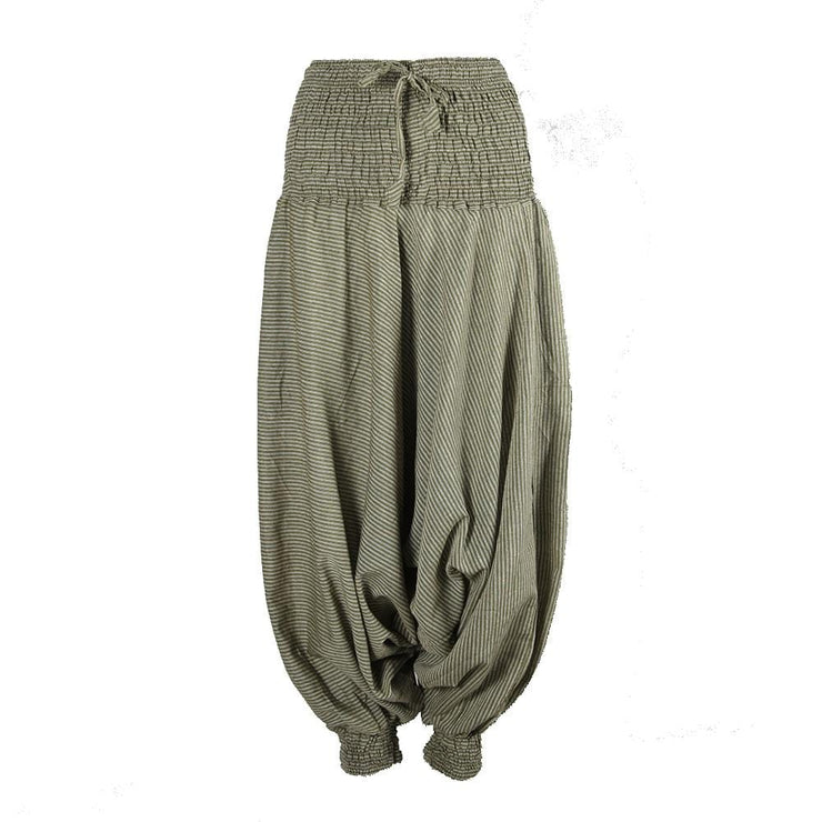 Cotton Drop Crotch Aladdin Pants