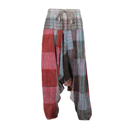 Plaid Patchwork Harems