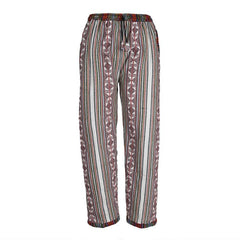 Colourful Patterned Fleece Lined Trousers