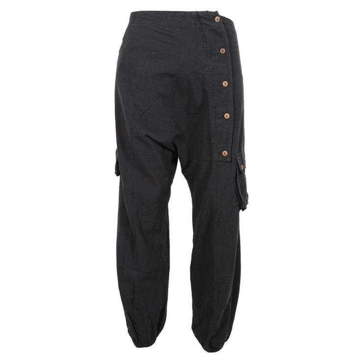 Asymmetric Hemp Mix Trousers