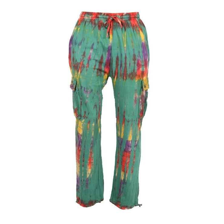 Tie Dye Cargo Trousers With Pockets