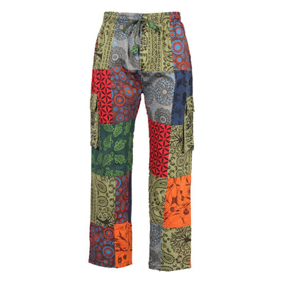 Screen Print Patchwork Trousers