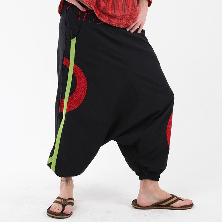 Grunge Drop Crotch Harem Pants