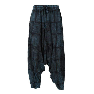 Soft Cotton Patchwork Harem Pants