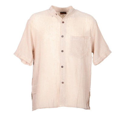 Short Sleeve Hemp Kurta Shirt