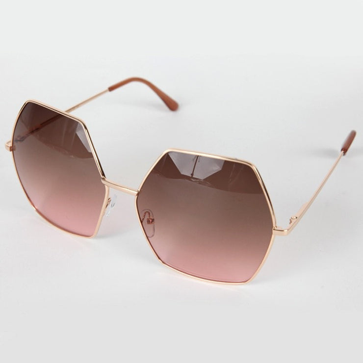 Oversized Hexagonal Sunglasses