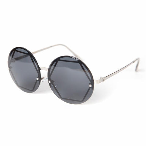 Hex Frame Round Sunglasses.