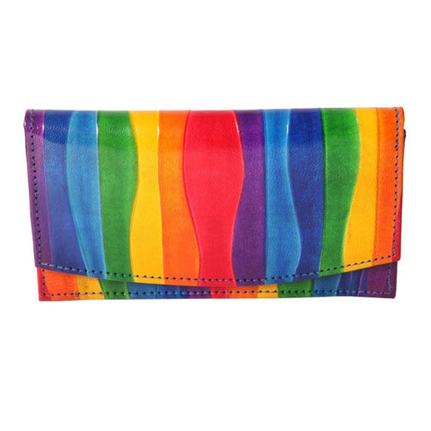 Rainbow Leather Purse