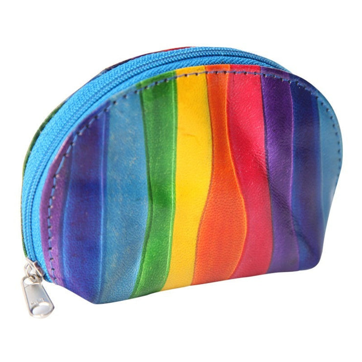 Rainbow Leather Coin Purse