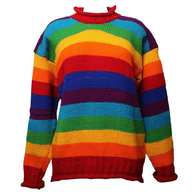 Oversized Rainbow Wool Jumper
