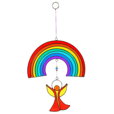 Rainbow Suncatcher Over An Angel