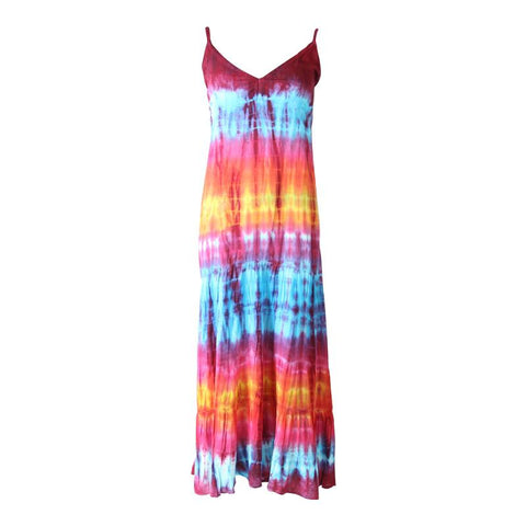 Tie Dye Summer Maxi Dress