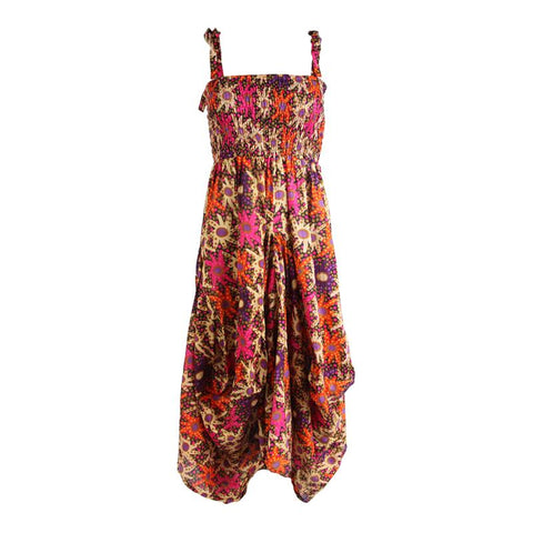 Shoulder Tie Maxi Balloon Dress