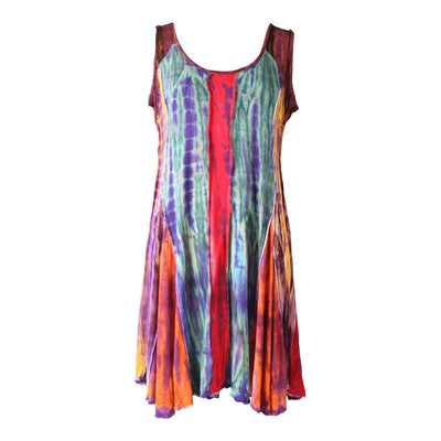 Tie Dye Panel Swing Dress