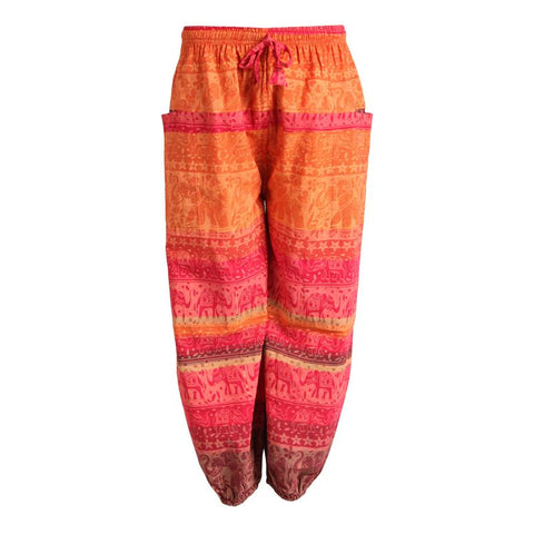 Men's Screen Printed Elephant Harem Joggers