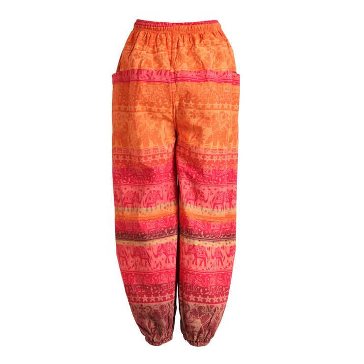 Screen Print Elephant Harem Pants