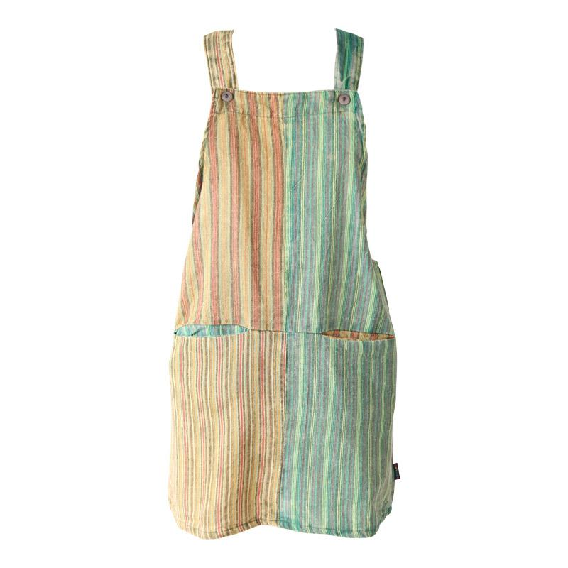 Stripe Dungaree Dress
