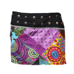 Gringo Wrap Round Mini Popper Skirt
