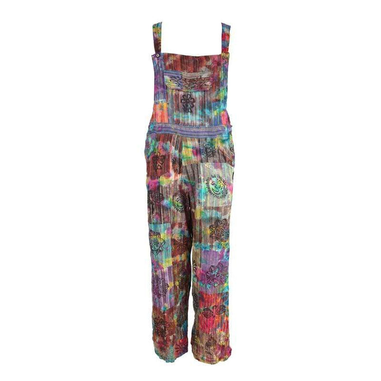 Tie Dye Patchwork Dungarees