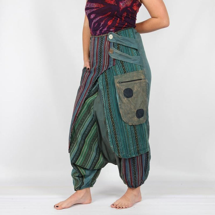 Low Crotch Boho Wrap Pants