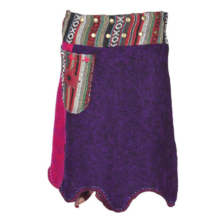 Midi Blanket Popper Skirt