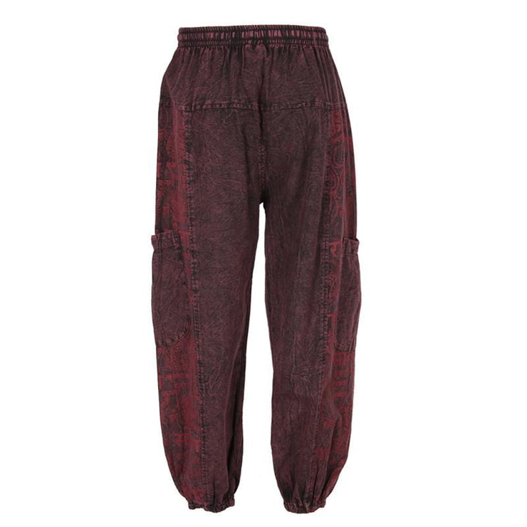 Stone Washed Om Joggers