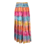 Wide Leg Tie Dye Seersucker Trousers