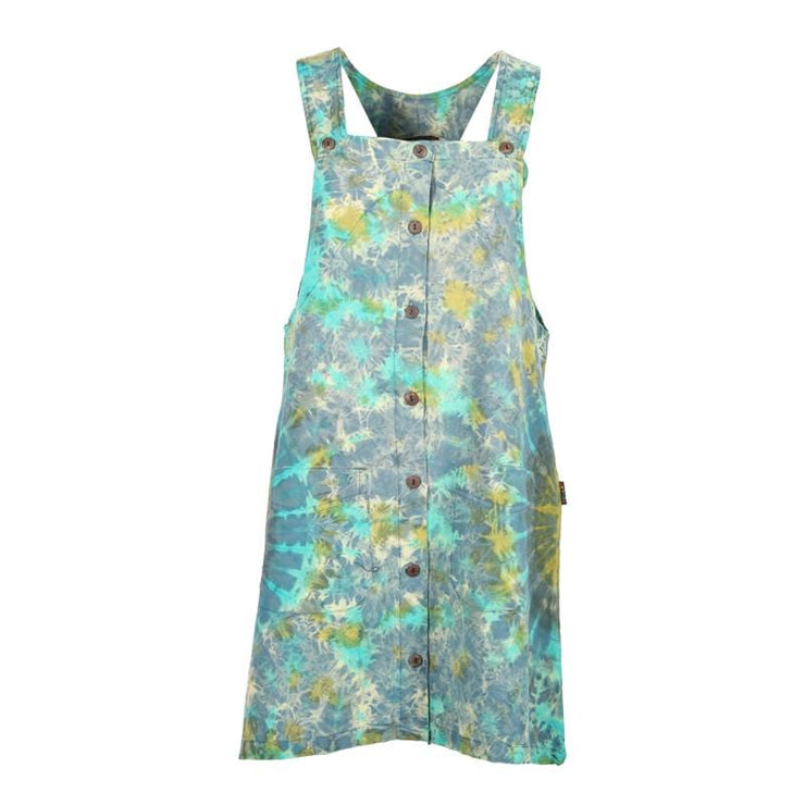Tie Dye Pinafore Dress