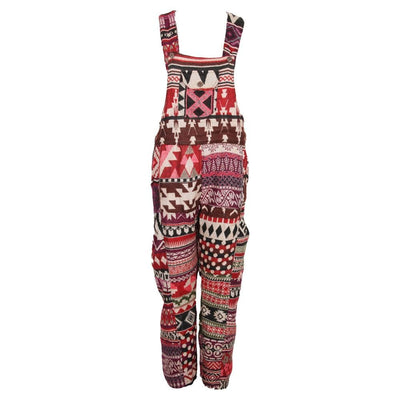 Blanket Patchwork Dungarees