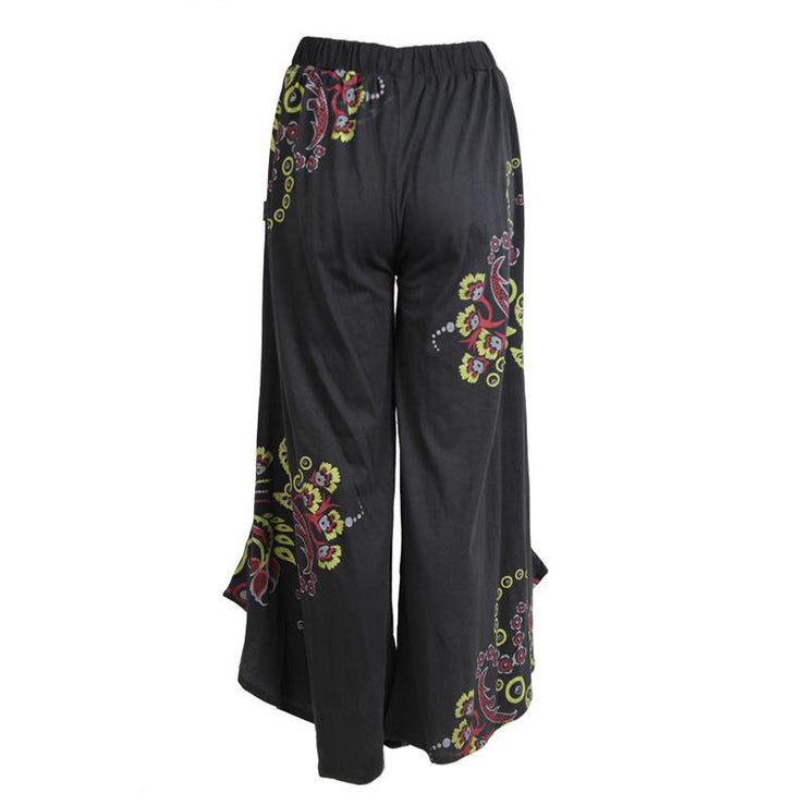 Wide Leg Screen Print Trousers